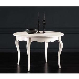 Tavolo Tondo Bianco Shabby.Dettagli Su Tavolo Rotondo Bianco Laccato Shabby Classico