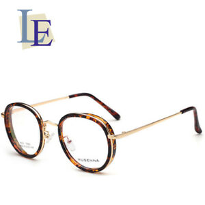 160a8176de Image is loading LE-Steampunk-Round-Prescription-Eyeglass-Frames-Leopard- Glasses-