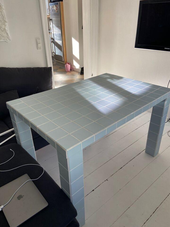Spisebord, Flisebord, Hjemmelavet