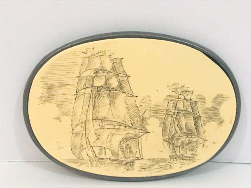 Nautical Tie Pin Scrimshaw Ship Tie Pie