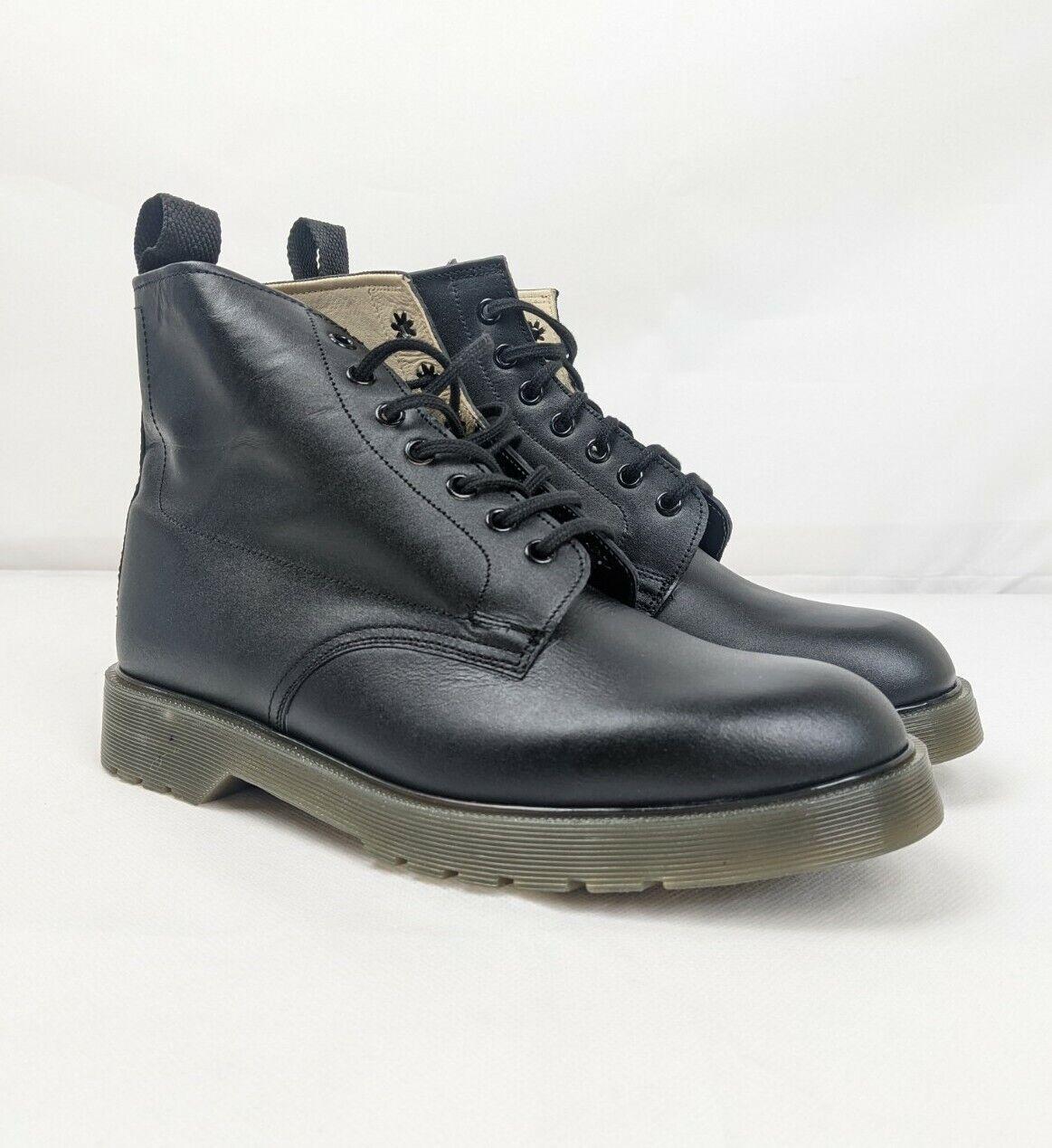 Rutland Shoe - Dr Marten Black Tie Leather UK Prison Guard Boots - UK 7 EU 41