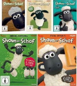 20 dvds  shaun das schaf - special edition box 12345 im set  neu ovp