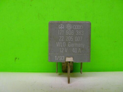 Relais 1 171906383 12V 40A Audi VW Seat Skoda