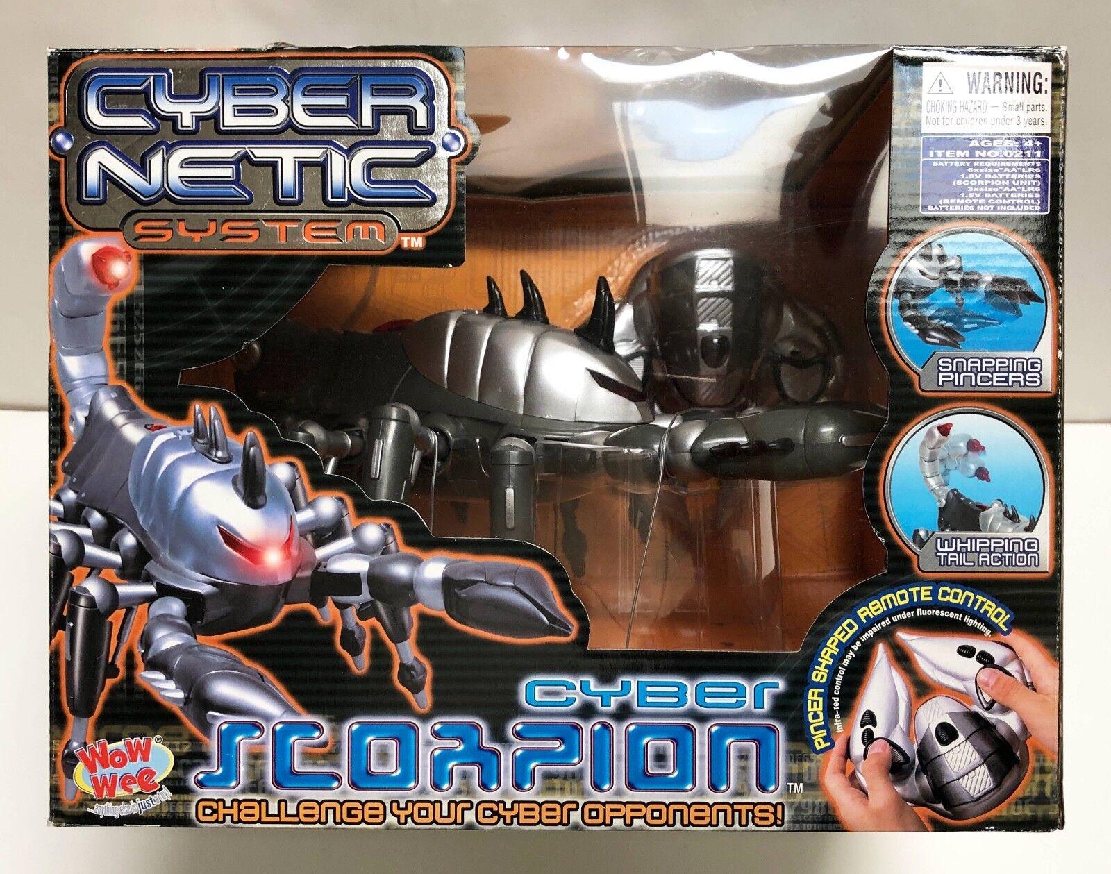 Wow-Wee CYBER SCORPION Animatronic Robot Control Remoto paseos ataques Menta en Caja Sellada  Raro