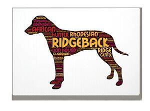 Rhodesian-Ridgeback-Art-Print-Word-Art-A4A3-Mothers-Day-Gift-Personalised-Option
