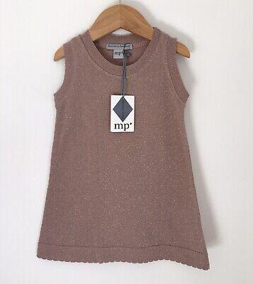 Mp Denmark Baby Dress Size 18 24 Months Sparkly Mauve Pink Bnwt