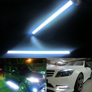 2x-Waterproof-Super-Bright-COB-Car-LED-Lights-12V-For-DRL-Fog-Driving-Lamp-White