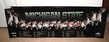 2013-14 Michigan State Spartans mens basketball schedule poster MSU TOM IZZO