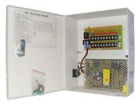 Power Supply Box For Cctv Cameras 12v 5amp 9 Port