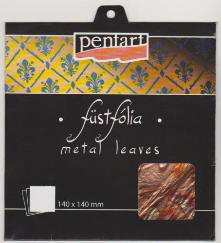 Metal Leaf Sheets 14x14cm 3 Different Colors 5 sheets//pack
