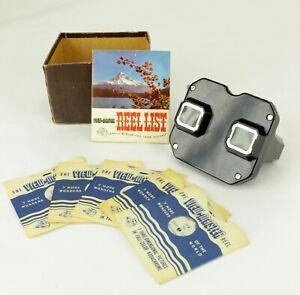 Vtg Sawyers VIEW MASTER Kodachrome Finder w/ 1 Christmas & 4 Fairytale Reels