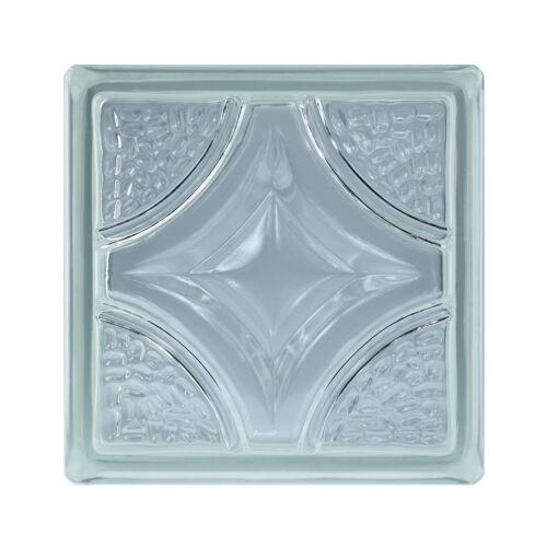 6 piéce BM Brique de Verre Briques de Verre rombo Super white 19x19x8cm
