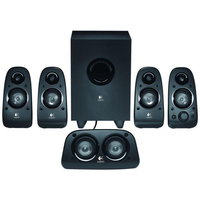 Logitech Z-506 Speaker System hook into your theater system sound like Movies!!!