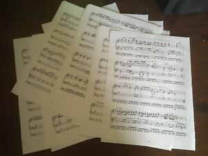 15-X-Original-Double-Sided-Sheet-Musical-notes-paper-sheets-for-crafts-Decoupage
