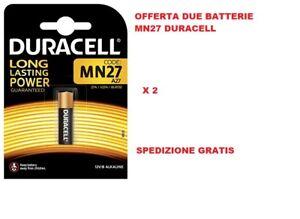 Batterie Alcaline A27 12 V Blister DA 2PZ - E27A, V27A, V27PX, V27GA, L728, L828