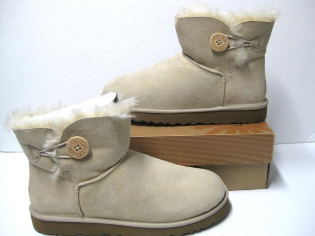 1e18d39b22d Women UGG Australia Mini Bailey Button Boot 3352 Sand Twinface 100%  Original New