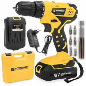 CORDLESS-18V-DRILL-DRIVER-LITHIUM-ION-1500-mAh-LED-ACCESSORIES