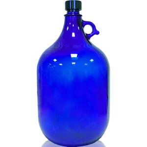 Glasflasche Flasche 5 Liter Blau Vorratsgefäß Glasballon Henkelflasche