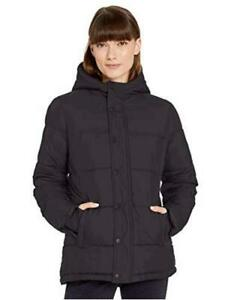 Essentials Women's Heavy-Weight Hooded Puffer Coat,, Black, Size XX-Large