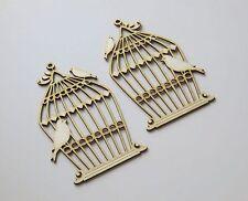 DIE CUT - CHIPBOARD - cage oiseaux large - 2 pieces - decoration, die cuts