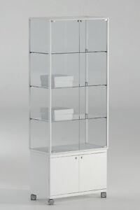Vetrina Vetrinetta Teca Display Showcase vetro alluminio h 180 cm ...