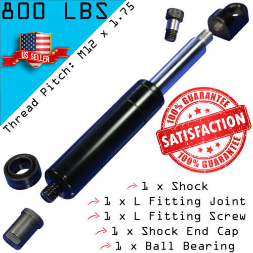 M12 800lbs 1 Bolt On Lambo Vertical Door Kit Shock with 4 Fitting Ends