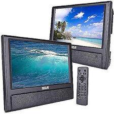 "DVD Player Playback Audio Video Dual Screens 9"" TFT Car Travel RCA"
