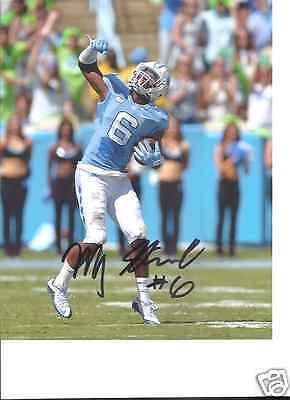 Qualified Mj Stewart North Carolina Tar Heels Signed 8x10 Photo W/coa Autographs-original