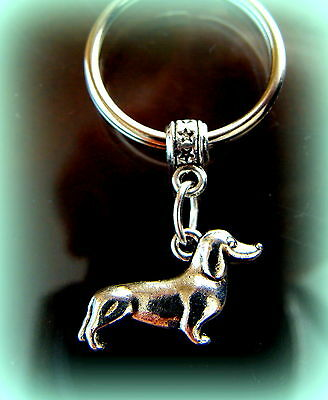 DACHSHUND Doxie DOG KEYCHAIN Jewelry Weiner Sausage Puppy Pup LOVE my DOG