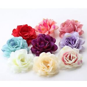 Lovely-Rose-Flower-Hair-Clips-Floral-Headwear-Barrettes-for-girls-Woman-UK