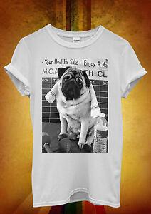 Pug Life Dog Cool Retro Hipster Funny Men Women Vest Tank Top Unisex T Shirt 534
