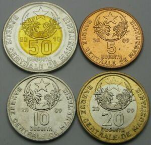 MAURITANIA 20 OUGUIYA BIMETAL UNC COIN 2009 YEAR