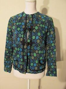 V7661-Panhandle-Slim-Green-Blue-Floral-Vintage-034-Short-Horn-034-Cardigan-Women-039-s-14
