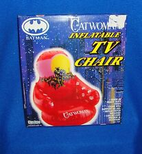 Batman Catwoman Inflatable Indoor Outdoor TV Chair Sealed 65 Pound Limit