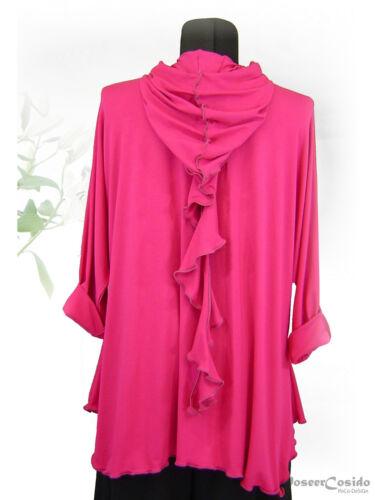 Hoodie xl Shirt Poco xxxl Tunika Pink Lagenlook Design° L xxl Zipfelkapuze IUxBwq