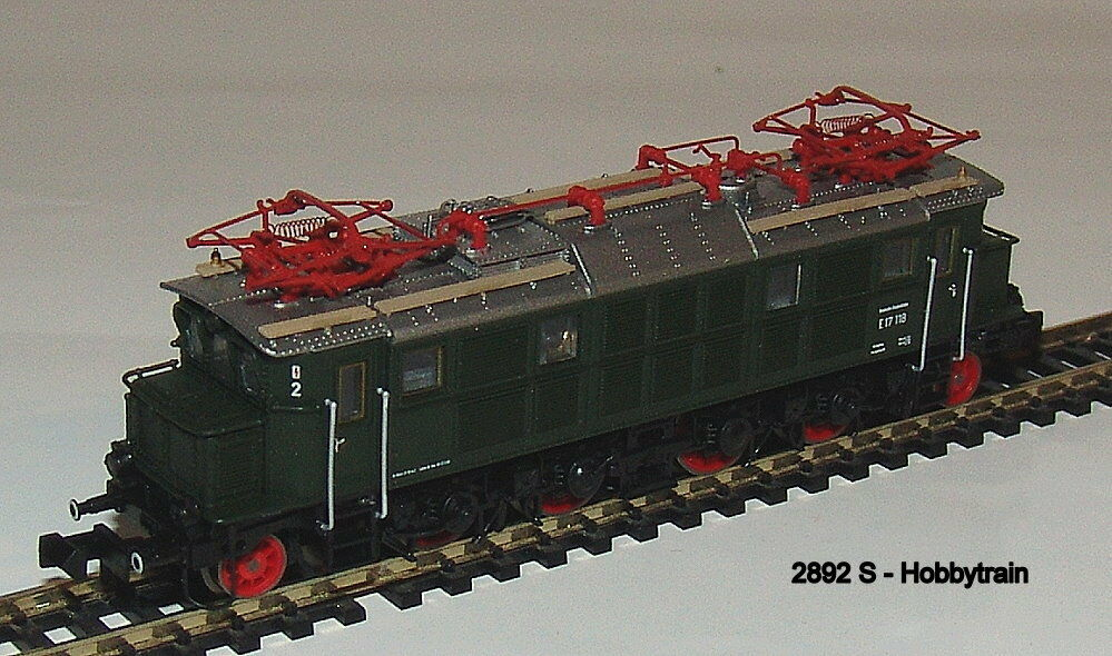 2892 S - Hobbytrain - Electric Locomotive Br E17 Db Green, Ep.iii Sound New