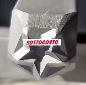 PUNZONE MARCATORE PER METALLO IMPRONTA A STELLA DA 5 mm PUNZONI