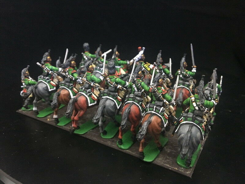 1 56 28mm Napoleonic Plastic DPS DPS DPS painted French Dragoons Perry Miniatures RC1007 9901f4