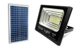 FARO-FARETTO-LED-SMD-100W-CON-PANNELLO-SOLARE-RICARICABILE-ENERGIA-CREPUSCOLARE