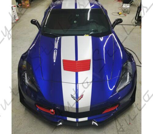 Front Grille Overlay Hood Vinyl Decal PAIR! C7 Corvette Z06 Grand Sport 2015