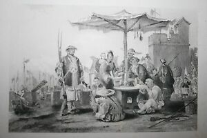1800-039-S-ENGRAVING-RICE-SELLERS-AT-CHINESE-MILITARY-STAT