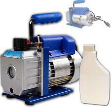 Single Stage Rotary Vane 3CFM 1/4HP Deep Vacuum Pump HVAC AC Air tool Oil Bottle