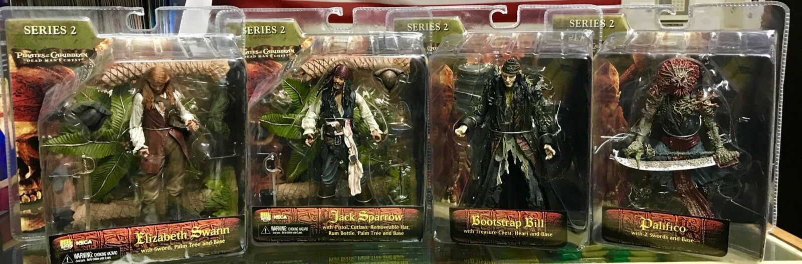 Pirates Of The Caribbean Caribbean Caribbean Dead Man's Chest Series 2 Action Figure Set 2006 L@@K 531f95