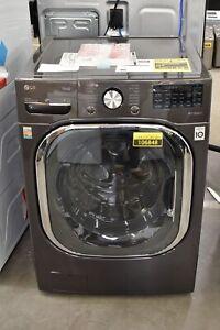 "LG WM4500HBA 27"" Black Steel Smart Front Load Washer 5 cu. ft. NOB #106848"