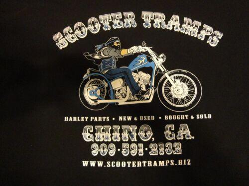 Large Genuine Scooter Tramps Black Short Sleeve T w//Pocket Harley