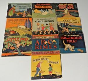 Details about Vintage LITTLE FOLK'S LIBRARY Children's Book Set of 10  Newson & Company 1928