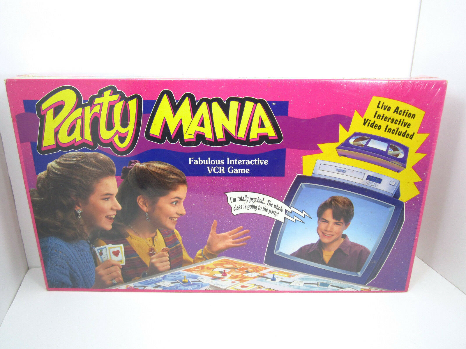 Party Mania Fabulous Interactive VCR Game  Vintage Parker Bredhers 1993