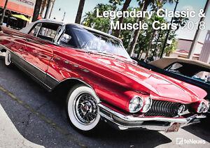 Muscel-amp-Classic-Cars-2018-Kalender-42-x-29-7-cm-DIN-A3-NEU-statt-14-99