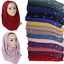 Fashion-Women-Ladies-Chiffon-Pearl-Beads-Hijab-Shawl-Scarf-Muslim-Headcover-Hot thumbnail 2