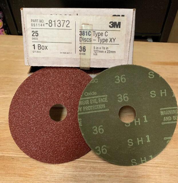 3M Fibre Disc 381C Aluminum Oxide 5 Diameter Pack of 50 Brown 5 Diameter 16 Grit